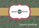 Logo Seasons Greetings 7x5 Folded Card