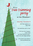 Tree Trimming Party 5x7 Flat Card