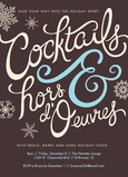 Holiday Cocktails 5x7 Flat Card