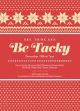 Ugly Sweater Party 5x7 Flat Card