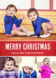 Four Photo Christmas 5x7 Flat Card