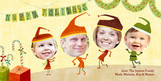 Christmas Elves 8x4 Flat Card