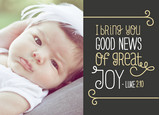 News of Great Joy 7x5 Folded Card