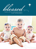Blue Blessed Star 5x7 Flat Card