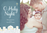 Glowing Holy Night 7x5 Flat Card