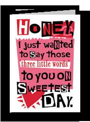 Three Little Words 5x7 Folded Card