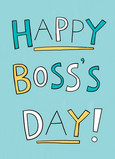 Happy Boss Day 5x7 Folded Card
