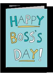 Happy Boss Day 5x7 Folded Card