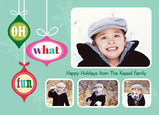 Oh What Fun Ornaments 7x5 Flat Card