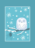 Snowy Owl 5x7 Folded Card