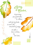 Leaves Give Thanks 5x7 Folded Card