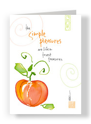 Pumpkin Simple Pleasures 5x7 Folded Card