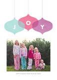 Bright Joy Ornaments 5x7 Flat Card