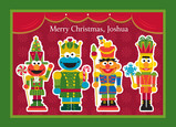 Sesame Street Nutcrackers 7x5 Folded Card