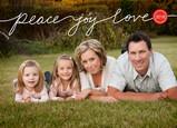 Peace Joy Love Script 7x5 Folded Card