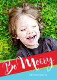 Diagonal Merry Banner 5x7 Flat Card