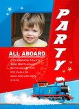 All Aboard Thomas Birthday Invitation 5x7 Flat Card