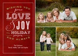 Forever and Always Holiday 7x5 Flat Card