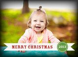 Merry Christmas Banner 7x5 Folded Card