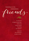 Remembering Christmas Friends 5x7 Folded Card