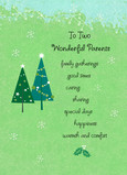 Wonderful Christmas Parents 5x7 Folded Card