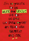Grateful Aunt Uncle 5x7 Folded Card