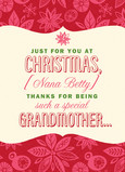 Special Christmas Grandmother 5x7 Folded Card