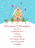 Gingerbread Grandparents House 5x7 Folded Card