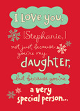 Special Christmas Daughter 5x7 Folded Card