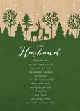 Green Deer Husband 5x7 Folded Card