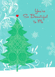 So Beautiful Tree 5x7 Folded Card