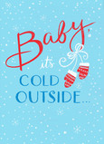 Cold Outside Mittens 5x7 Folded Card