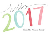 Hello Colorful 2016 7x5 Folded Card