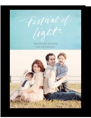 Hanukkah Lights Festival 5x7 Flat Card