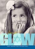 Blue Hanukkah Glow 5x7 Flat Card