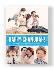 Blue Chanukah Diamonds 5x7 Flat Card