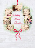 Photo Wreath Thoughts 5x7 Folded Card