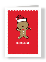 Gingerbread Oh Snap 5x7 Folded Card