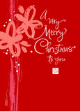 Red Merry Christmas 5x7 Folded Card