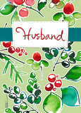 Husband Christmas Greenery 5x7 Folded Card