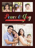Bold Peace and Joy 5x7 Flat Card