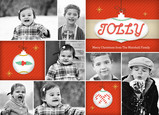 Jolly Ornament Photos 7x5 Flat Card