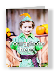 Blank Vertical Photo Halloween Card 5x7 Folded Card