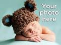 Blank Horizontal Photo Baby Thank You Card 5.25x3.75 Folded Card