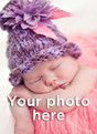 Blank Vertical Photo Baby Thank You Card 3.75x5.25 Folded Card