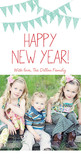 Bunting Flags New Year 4x8 Flat Card