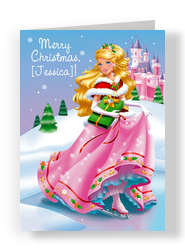 Christmas Princess 5x7 Folded Card