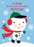 Cute Christmas Snowman 5x7 Folded Card