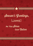 Army Seasons Greetings 5x7 Folded Card