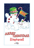 Snowman Christmas Joy 5x7 Folded Card